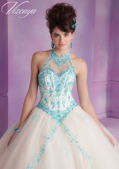 89001 Quinceanera Gowns 89001 Tulle Quinceanera Dress with Embroidery and Beading