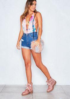 Tasha Pink Mermaid Sequin Bodysuit