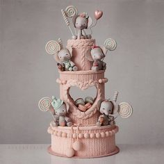 I am blown away by the cozy knitted texture of this cake from Kek Couture! I am blown away by the cozy knitted texture of this cake from Kek Couture! 😍 Which one of these adorable party elephan. Gorgeous Cakes, Pretty Cakes, Cute Cakes, Amazing Cakes, Baby Elephant Cake, Baby Elephants, Cupcakes Decorados, Baby Birthday Cakes, Cake Boss