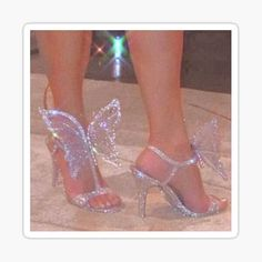High End Shoes, High Heels, Butterfly Heels, Aesthetic Shoes, Hype Shoes, Silver Shoes, Prom Shoes, Shoe Closet, Shoe Game