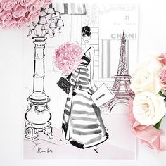 Watercolour illustration Limited Edition Art Prints by artist Kerrie Hess. Megan Hess Illustration, Paris Illustration, Watercolor Illustration, Art Illustrations, Fashion Illustrations, Makeup Illustration, Barbie Fashion Sketches, Kerrie Hess, Watercolor Fashion