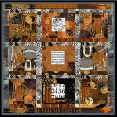 collage #quilt #collage #rust #black