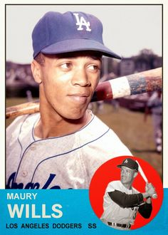 1963 Topps Maury Wills (by Bob Lemke).  This was not an official Topps card