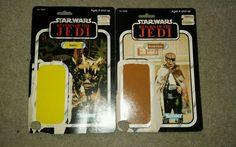 Vintage Star Wars Return of the Jedi Uncut Card Backs / Package Backs Lot of 2