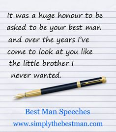 Build your Best Man speech using 100's of our jokes, ice breakers and quotes. themarriedapp.com hearted <3