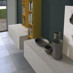 Fresh Sektionale Holz TV Wandanlage Pari u Dispari von Presotto Industrie Mobili Design