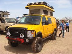 Sportsmobile 4-wheel drive camper van.