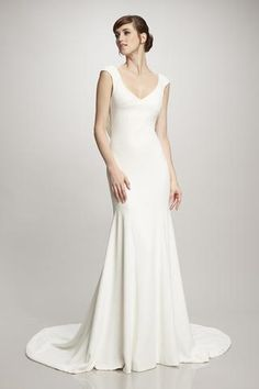 Daria - #890234 - Mermaid stretch crepe gown with cowl back