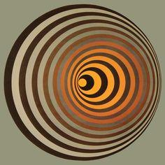 Victor Vasarely - Oervegn-I Original Framed Print Victor Vasarely, Black Wall Art, Modern Wall Art, Claude Nicolas Ledoux, Wall Art Prints, Framed Prints, Principles Of Design, Illusion Art, Art Abstrait
