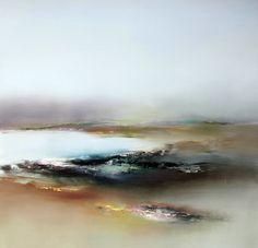 """""""Lakeside with Green"""" by Elaine Jones. Oil on board, 80cm x 80cm. £1800.00  http://www.wills-art.com/artist/elaine+jones"""