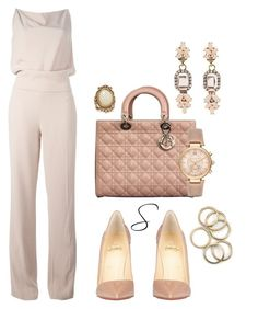 A fashion look from December 2016 featuring Haider Ackermann, heel pump and handbags shoulder bags. Browse and shop related looks. Pink Outfits, Fashion Outfits, Womens Fashion, Christian Dior, Christian Louboutin, Formal Chic, Professional Attire, Haider Ackermann, Classic Outfits