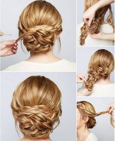 So Cute Updo Wedding Hairstyles Tutorial 2016 http://www.setteroftrends.com #hairstyles #hairtrends #hair