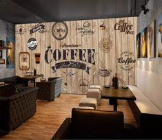 Coffee Painting 58 AJ Wallpaper is part of Coffee painting - Coffee Bar Design, Coffee Shop Interior Design, Restaurant Interior Design, Interior Shop, Small Coffee Shop, Coffee Shop Bar, Rustic Coffee Shop, Cofee Shop, Coffee Cafe