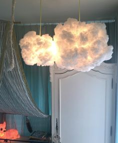Cloud light cloudlamp pendant light ~ hanging cloud ~ with fabric electricity cable by PachasCloud on Etsy https://www.etsy.com/uk/listing/250825769/cloud-light-cloudlamp-pendant-light