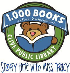 The Clive Public Library is excited to introduce our newest early literacy program- 1,000 books before Kindergarten. 1,000 Books before Kindergarten is an on-going reading program designed to encourage parents and caregivers to read 1,000 books with their children before they enter school. The program is based on research findings showing that the more children ages 0-5 hear books read to them the more prepared they will be to learn to read in kindergarten.