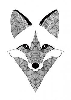 fox animal wild fox @ displate