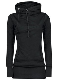 """Smart Hoodie Girl-Kapuzenpulli """"Girl-Kapuzenpulli"""" Frauen schwarz - EMP I want in this style and different colors. Mode Outfits, Fashion Outfits, Womens Fashion, Fashion Hacks, Fashion Advice, Fashion Models, Fashion Trends, Pastel Outfit, Looks Style"""