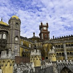 Guess Where? European Palace - Carry On | Travel + Leisure Pena Palace in Sintra #Portugal