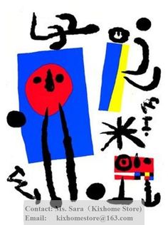 Google Image Result for http://i01.i.aliimg.com/wsphoto/v0/537664617/Spanish-artist-Joan-Miro-Famille-doiseleurs-Serigraph-Free-shipping-hand-painted-famous-abstract-replica-oil-paintings.jpg
