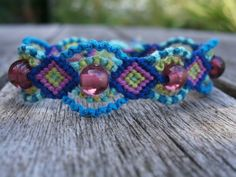 Ankara Beaded Friendship Bracelet by ColorsOfThreads on Etsy
