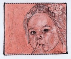 "Pen and Pastel Portrait; 8"" x 10""; Private Collection. Discover how to get a portrait drawn for you:  http://JemarcBoliver.blogspot.com"