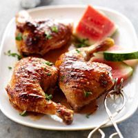 For Mark: recipe for Grilled Chicken with Watermelon Glaze from @Better Homes and Gardens.
