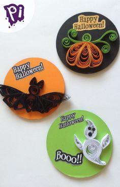 Decora en Halloween con estos Imanes con forma de Calabaza, Murciélago y Fantasma elaborados de Filigrana, Son muy originales, ve el tutorial aquí: https://www.youtube.com/watch?v=uPAN1hk3-rs