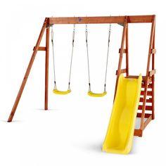 Plum Tamarin Wooden Swing Set with Slide.  Available at Kids Mega Mart online Shop Australia
