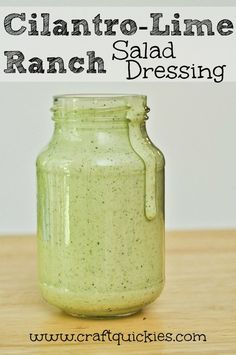 This copycat Cafe Rio cilantro-lime dressing comes together in minutes and is great on meat and salads!.