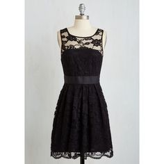 LBD Mid-length Sleeveless Fit & Flare When the Night Comes Dress ($100) via Polyvore featuring dresses, sleeveless cocktail dress, cocktail dresses, black dress, fit and flare dress and holiday dresses