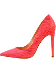 Hot watermelon-hued stilettos perfect for hot summer nights  Diavolina - Alexa Single Sole Court Shoe from David Jones
