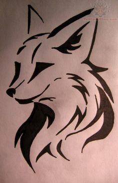 Tribal Fox Head Tattoo Designs
