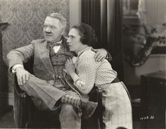 Still from the 1927 silent film The Potters starring W.C. Fields.  The film is lost.
