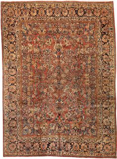 Sarouk carpet Central Persia circa 1930 size approximately 8ft. 11in. x 12ft. 2in.