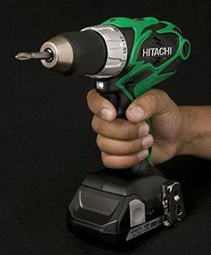Hitachi Lithium Ion Compact Pro Driver Drill with Flashlight >>> You could get even more information by clicking the picture. (This is an affiliate link). Cordless Drill Reviews, Thing 1, Metal Belt, Drill Driver, Power Tools, Flashlight, Compact, Drills, Suit