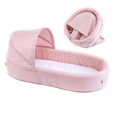 This LuLyBoo Bassinet Plus Baby Travel Bed makes it easy to have a cozy place for your baby to nap wherever you go together. This comfy lightweight bed with waterproof base quickly folds into an easy-to carry backpack for convenient portability. Baby Travel Bed, Travel Tips With Baby, Traveling With Baby, Portable Baby Bed, Baby Nest Bed, Baby Co, Baby Shop Online, Baby Necessities, Baby Bassinet