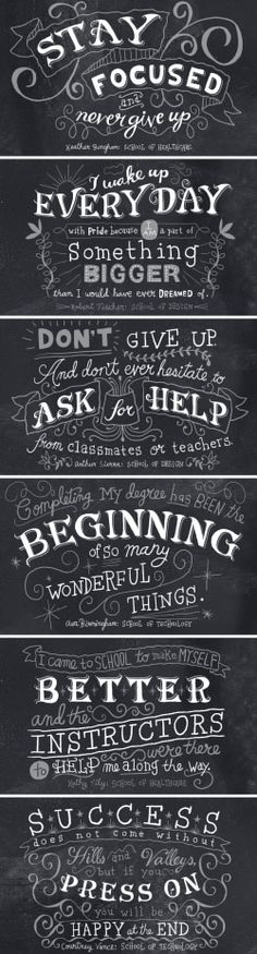 pinterest.com/fra411 #typography #lettering Hand Lettered Chalk by Nate Williams