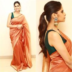 Wow Drape Sarees, Saree Blouse Designs, Blouse Patterns, Sari Dress, Simple Sarees, Saree Look, Elegant Saree, Traditional Sarees, Saree Styles