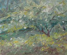 Appalachian Plein Air Oil Painting by F. Fournier