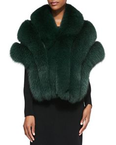 Leather/Fox Fur Stole by Gorski.