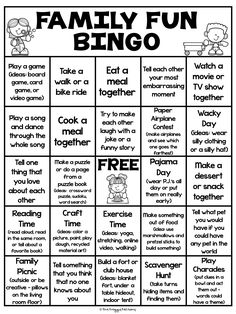 Family Fun Bingo is full of fun family activities for staying at home. This bingo board is great for stay-cations or as a rainy day activity. There is an editable box version and a blank version included. Rainy Day Activities, Kids Learning Activities, Home Learning, Preschool Activities, Summer Activities, Family Fun Activities, Indoor Activities, Family Fun Night, Teaching