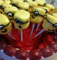 Despicable Me Marshmellow Pops