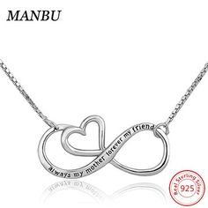 CharmSStory Mothers Day Mother Daughter Forever Love Infinity Sterling Silver Heart Necklace Pendant for Mom