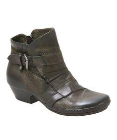 Look what I found on #zulily! Olive Ezra Leather Bootie #zulilyfinds
