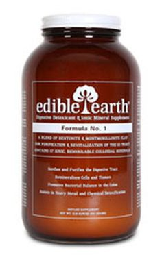 Edible Earth is a superior formulation of natural calcium bentonite and montmorillonite clays developed by the LL Magnetic Clay Company. Edible Earth is a synergistic blend of the finest healing clays in North America and was formulated for general cleansing, detoxification, and revitalization of the entire digestive tract, in addition to supplying a rich spectrum of 57 bio-available ionic minerals.  They are the only company to manufacturer ingestible clay.