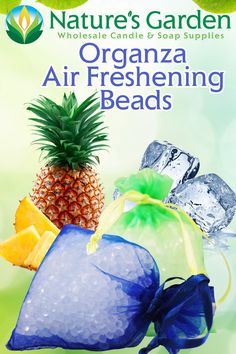 Free Organza Air Freshening Beads Recipe by Natures Garden Candle Supplies, Soap Supplies, Garden Candles, Homemade Candles, Candlemaking, Dollar Store Crafts, How To Make Homemade, Air Freshener, Essential Oil Diffuser
