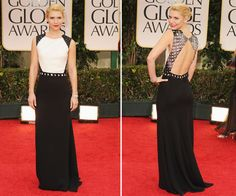 Claire Danes.  Gorgeous dress, and I love the simple hair and red lips.