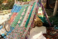 FAIT sur commande de Boho tente tipi shabby chic Gypsy hippie patchwork lit mariage Rideau photo prop festival Bohème Shabby Chic hippie