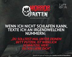 Solltet ihr mal ausprobieren   #horrorfakten