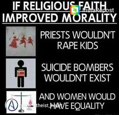 To say religion is were people get there morals from is bull. I'm an Athiest, I get my morals from empathy, you know the ability to put yourself in other people's shoes Atheist Quotes, Atheist Humor, Religion Memes, Atheist Agnostic, Losing My Religion, Religious People, Les Religions, In This World, Equality